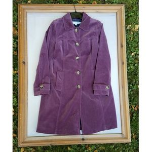 Boden Purple Velvet Coat Size 8 - EUC